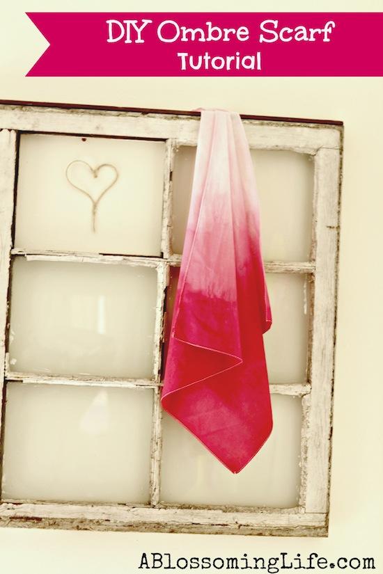 DIY Ombre Scarf Tutorial  #ombre #diy #scarf