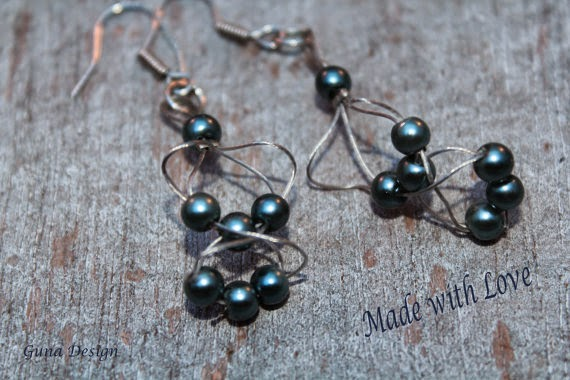 gunadesign guna andersone wire and bead earrings