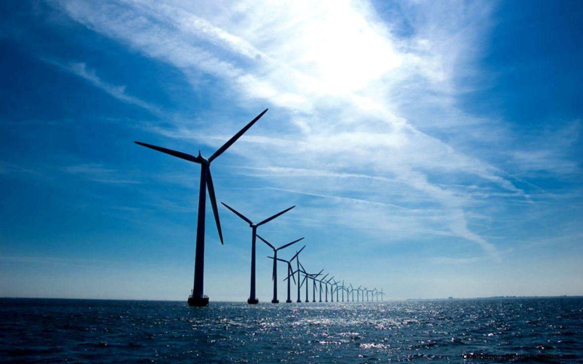 Wind Turbines Copenhangen Desktop Wallpaper Preview