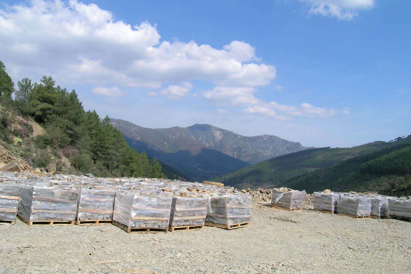 Geolog as de extremadura cantera de pizarra ornamental de ladrillar - Cantera de pizarra ...