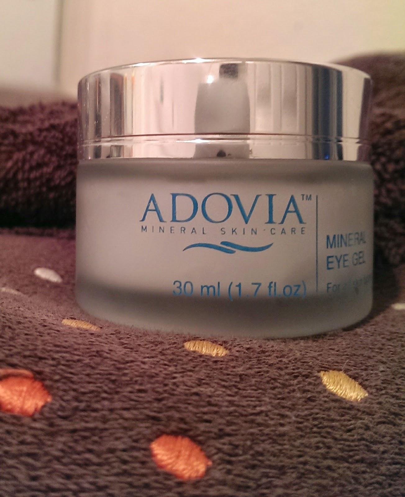 Adovia+Eye+Cream Adovia Mineral Eye Gel Review - Reducing Fine Lines Around Eyes #adovia