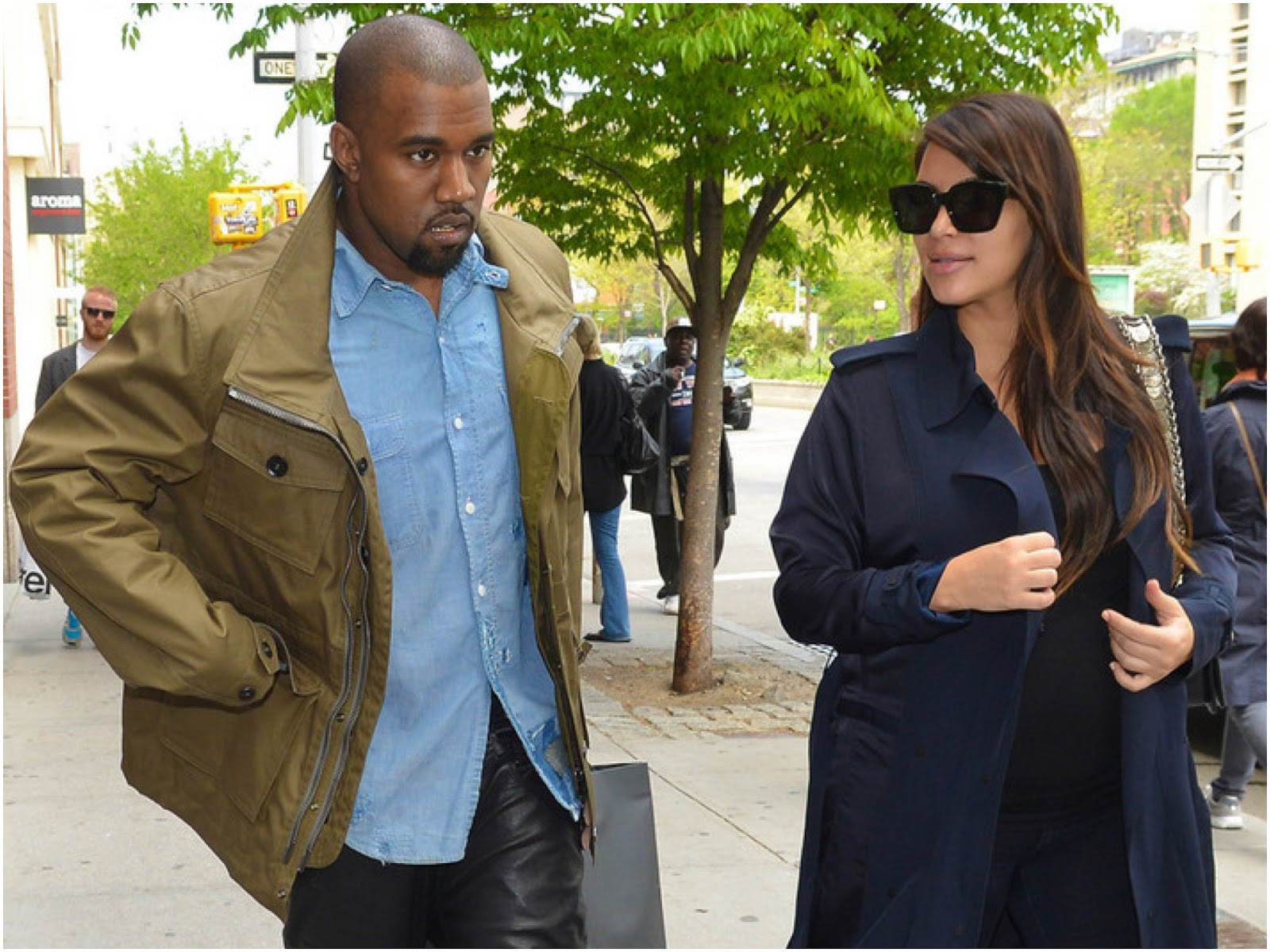 00O00 Menswear Blog: Kanye West in Burberry Prorsum menswear Pre-Spring 2013 field jacket - New York City May 2013