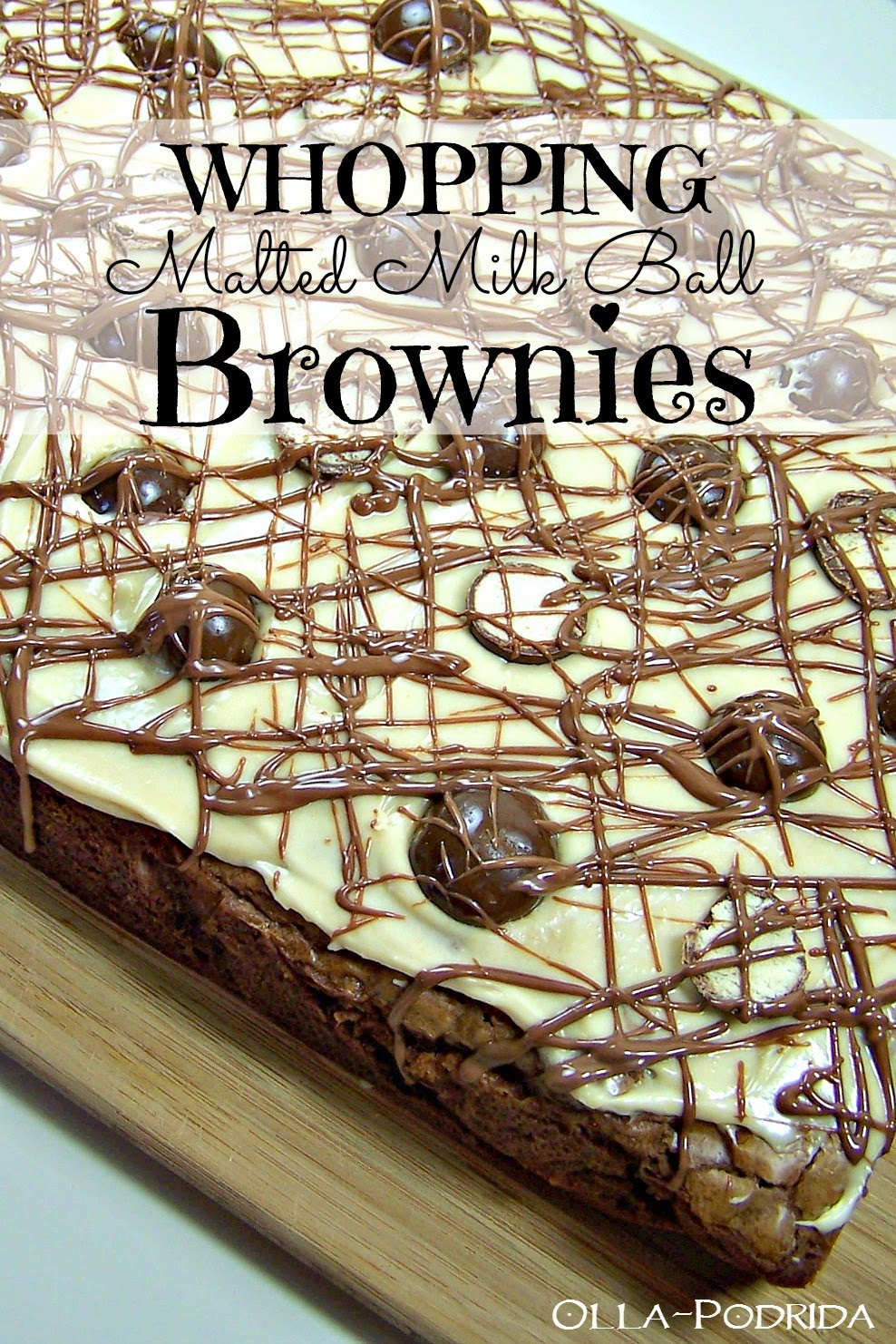 whopping malted milk ball brownies