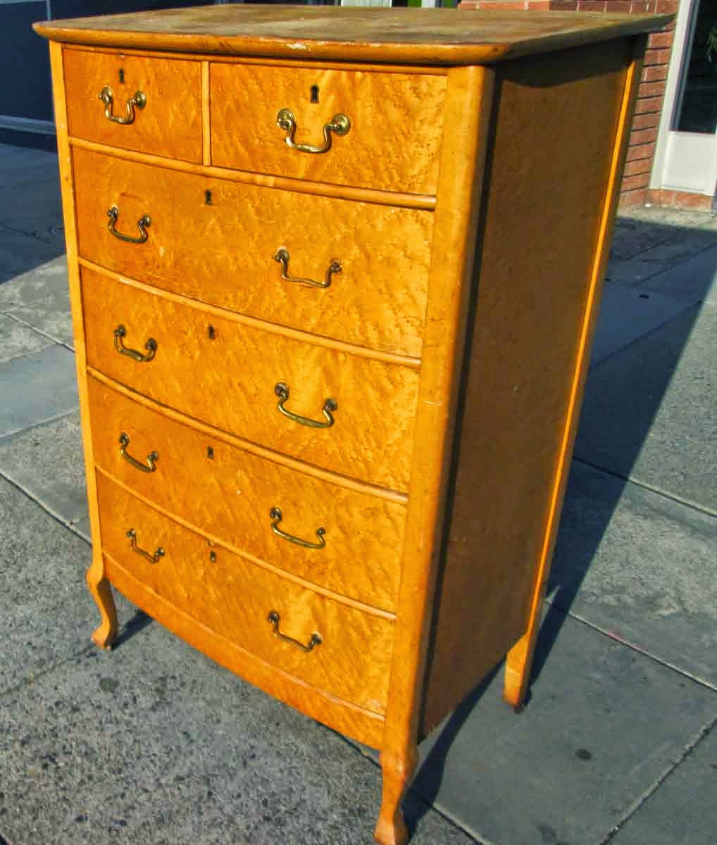 Uhuru Furniture Collectibles Sold Bird 39 S Eye Maple Chest Of Drawers 125