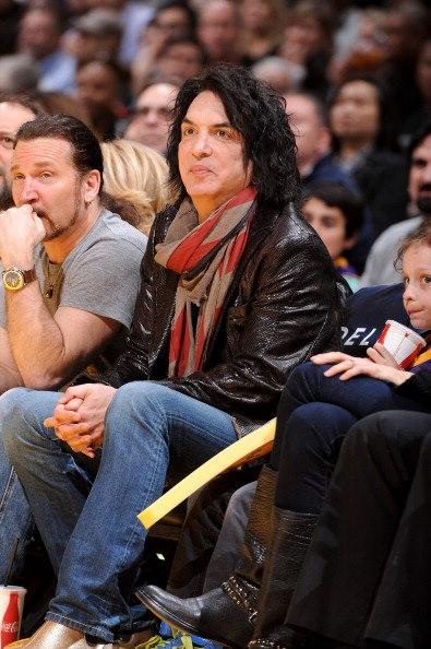 Eric Singer  amp  Paul Stanley At Lakers Game In Los AngelesEric Singer Kiss 2013