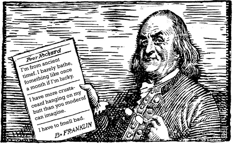 did ben franklin write an essay on farts Benjamin franklin's theory of farting - moon bughead.