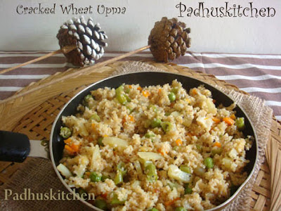 Cracked Wheat Upma-Dalia upma