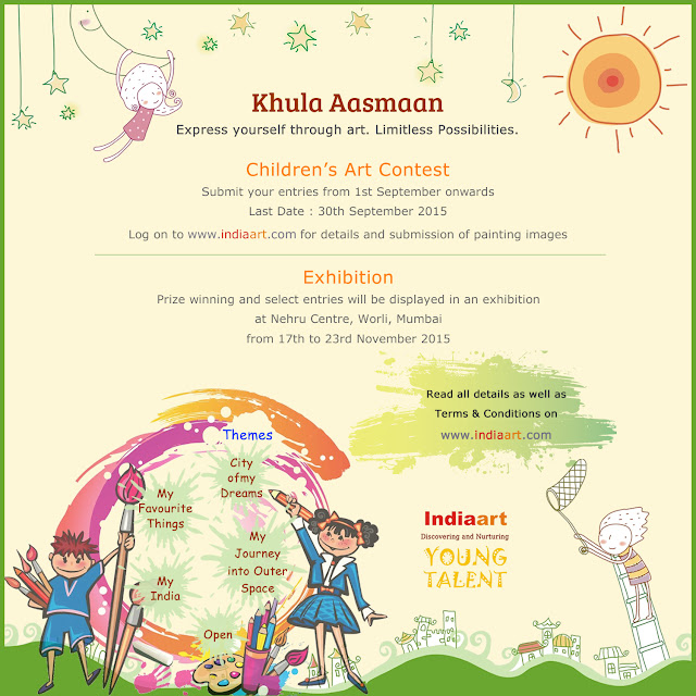 Khula Aasmaan - Children's Art Contest and Exhibition - Announcement ( presented by Indiaart.com)