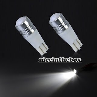2x T10 Car Wedge LED Cree White Q5 Reverse Backup Light Bulb 7W DC12V-30V