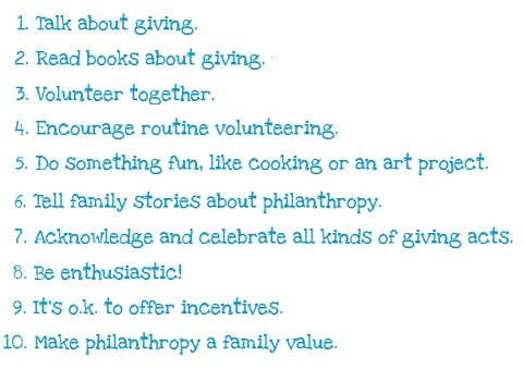 teach kids the value of giving
