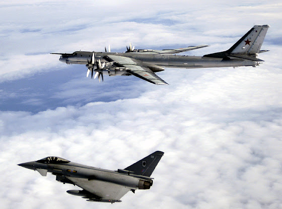 Tu-95 Beard and EF-2000 Eurofighter Typhoon