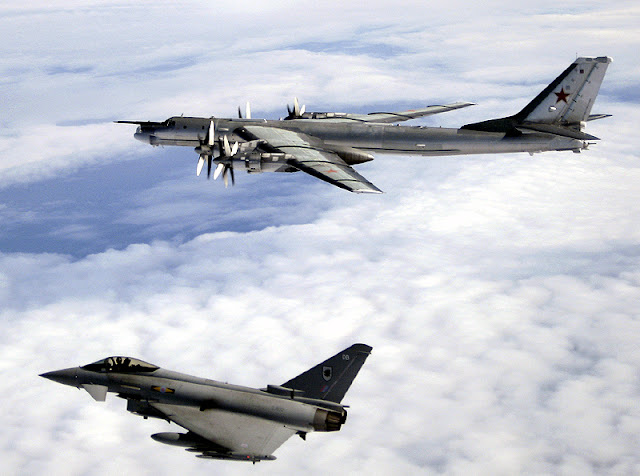 Tu-95 Bear D and EF-2000 Eurofighter Typhoon