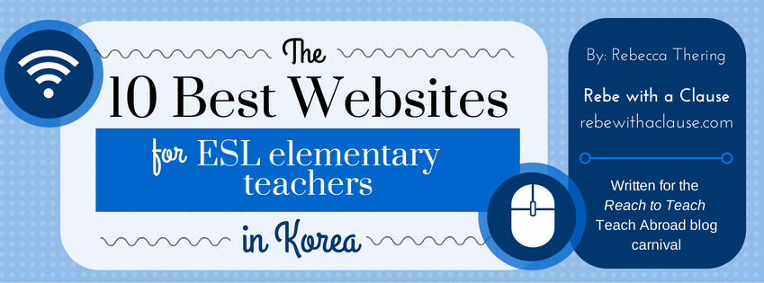 10 Best Websites for ESL elementary teachers in Korea