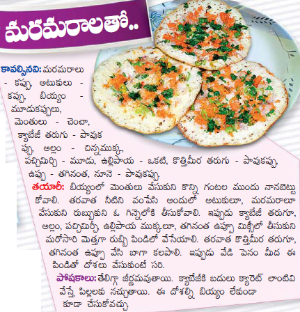 Healthy food recipes maramaralu dosa recipe in telugu maramaralu dosa recipe in telugu forumfinder