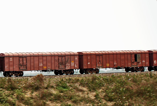 carriages of a goods train