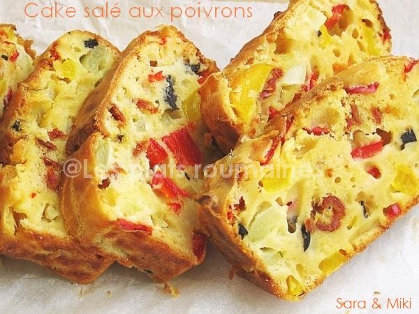 Cake Sal Ef Bf Bd Poivron Jambon