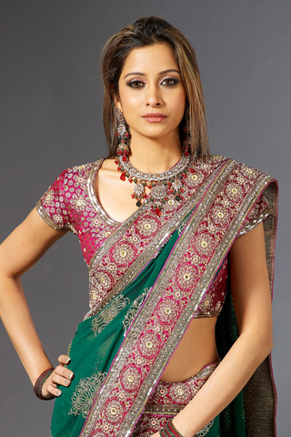 Embellished Saree blouse designs 2012