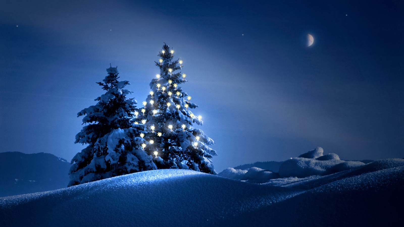 Wallpaper Desk : Winter Night Latest WallpaperWallpaper Desk