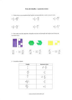 numeral misto fração correção exercícios resolvidos 5º 6º
