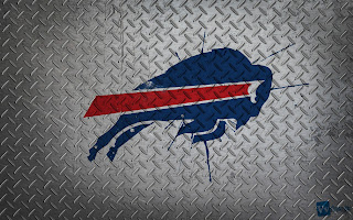 Buffalo Bills Logo Pain Splash on Metal HD Wallpaper