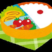 お弁当のイラスト「かわいいお弁当箱」