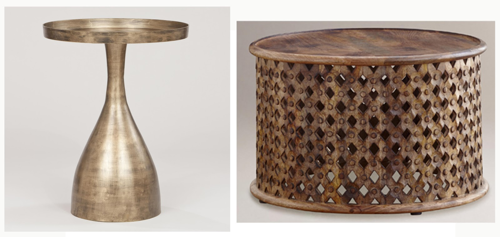 The ra ra home the wonderful world market for Tribal carved coffee table