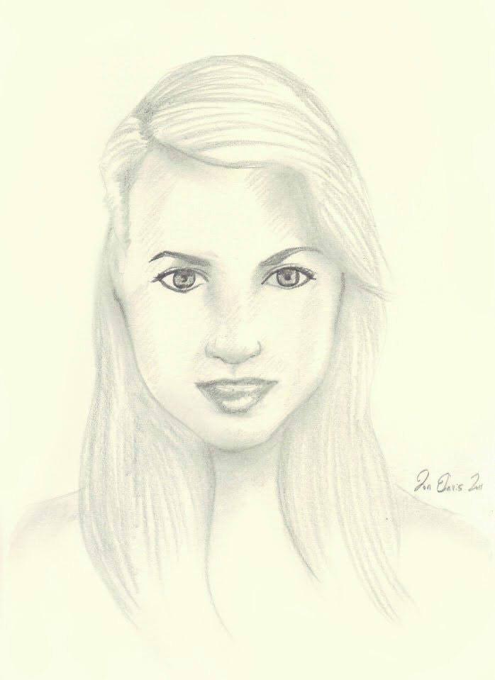Artwork by jon davis random pretty girl quick pencil sketch for Pretty sketches