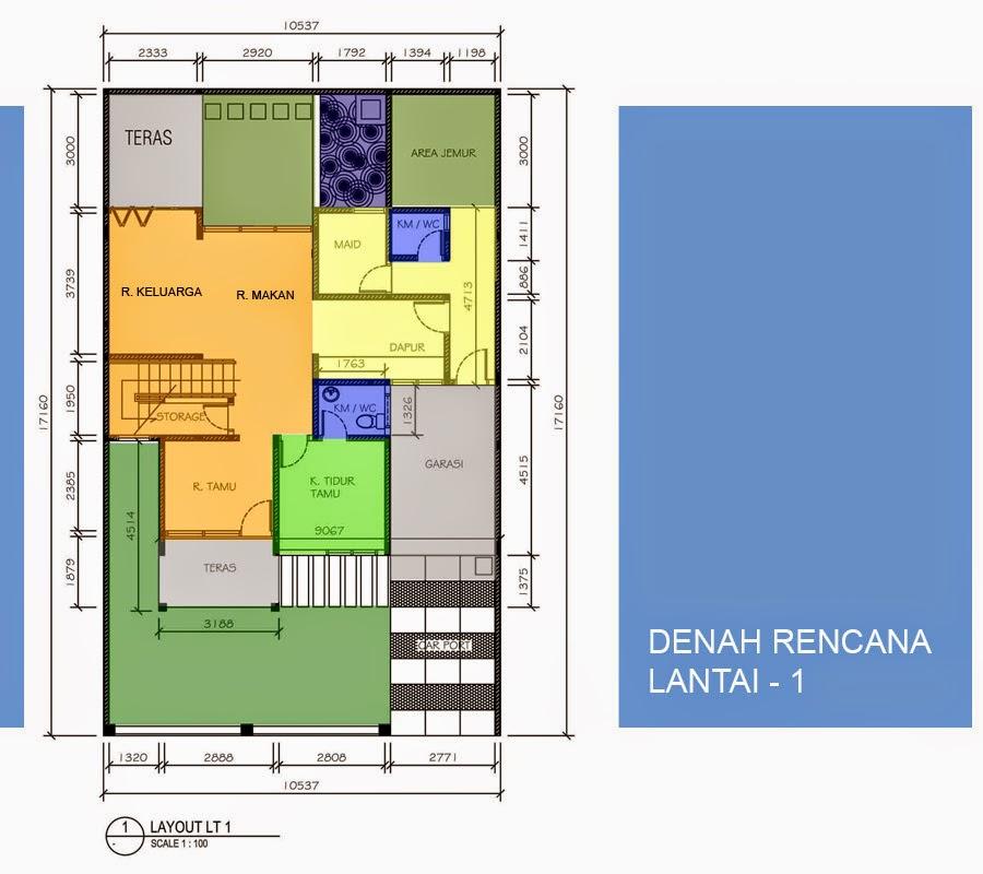 Desain Rumah Minimalis 2 Lantai Type 90