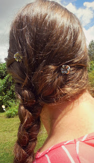 Lilla Roes, hair jewelry, hair, Flexi Clip, flower, bobby pin