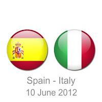 Skor Hasil Pertandingan Spanyol vs Italia Piala Eropa 2012