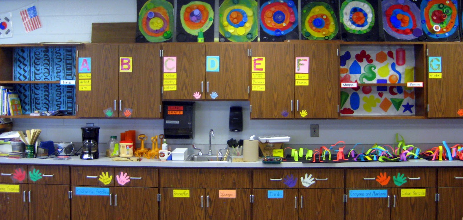 Cassie stephens in the art room welcome to the jungle for Art decoration for classroom