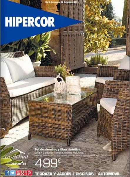 Hipercor muebles terraza y jardin primavera 2014 for Hipercor sombrillas jardin