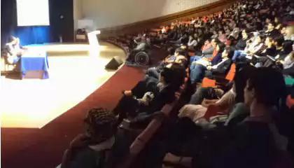 ato de solidariedade aos palestinos na Faculdade Cásper Líbero