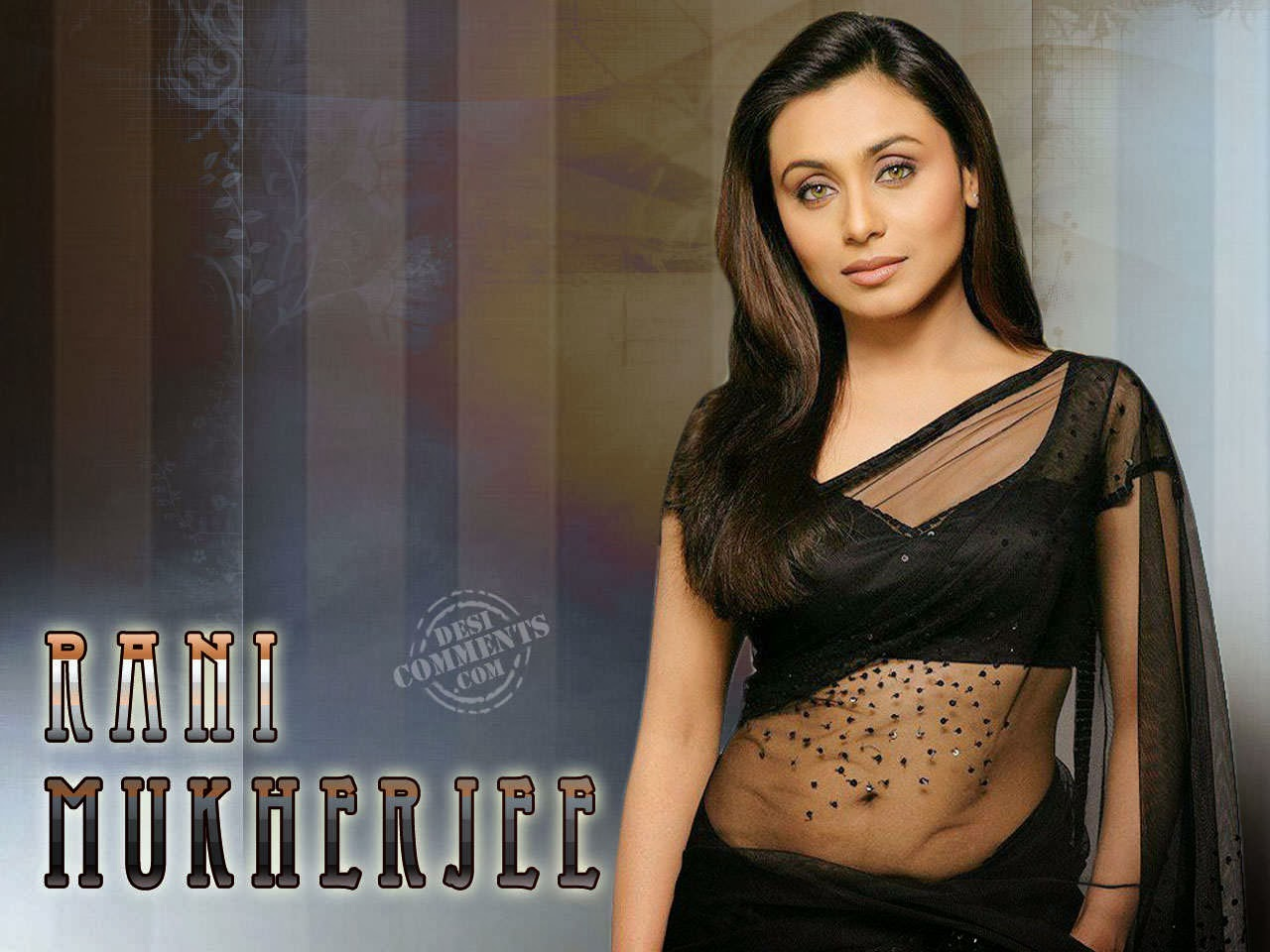 Hair Style Rani Mukherjee In Black Saree Rani Mukherjee In Black