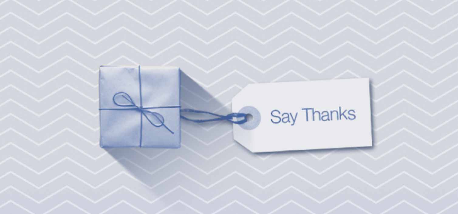 create facebook say thanks video