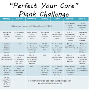 Plank Challenge Before And After 30-day plank challenge ~ he and she eat clean