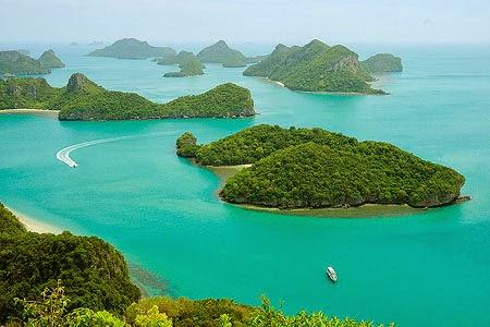 أنغ ثونغ الحديقة الوطنية البحرية قرب كوساموي