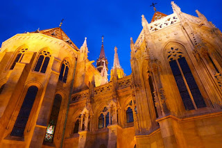 Buda Castle at Night in Hungary