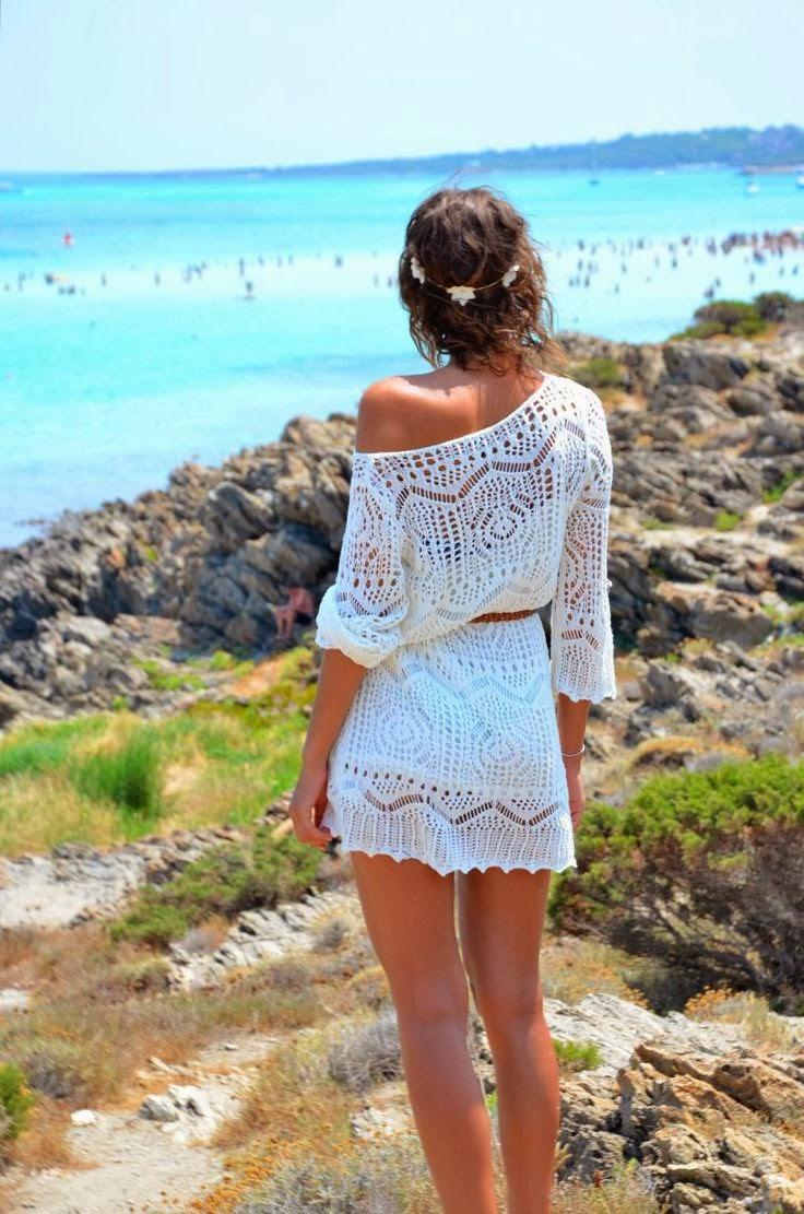 Summer White Crochet Dress