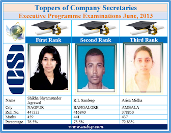 CS Inter Toppers June 2013