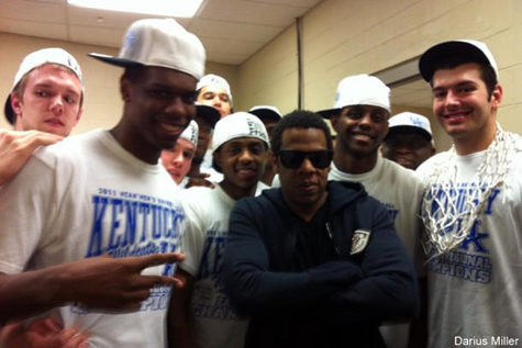 Jay-Z Shows Support To The Kentucky University Wildcats!