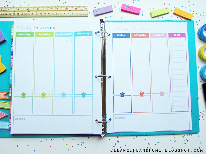 Clean Life And Home The Teacher Planner