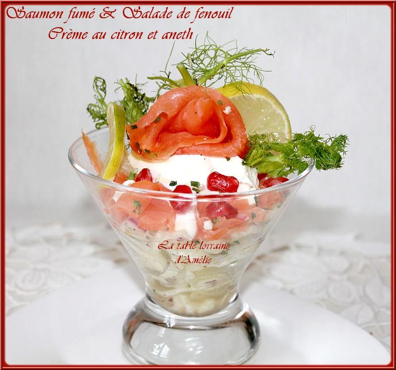 Salade de fenouil et saumon fumé