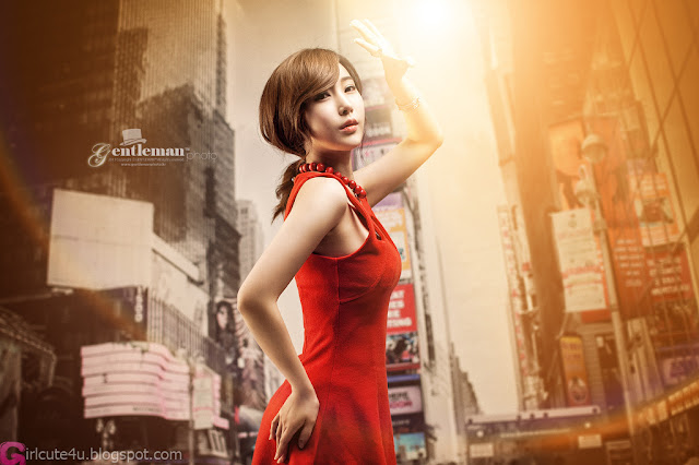 1 Hot Red - Im Min Young - very cute asian girl - girlcute4u.blogspot.com