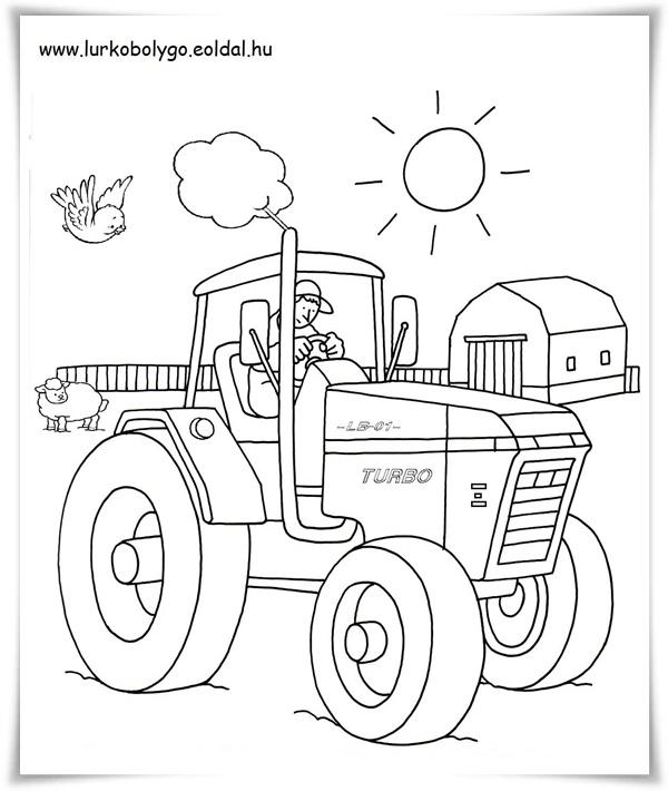 Ausmalbilder Traktor Mit Hänger - ausmalbilder traktor mit anhänger Coloring Book