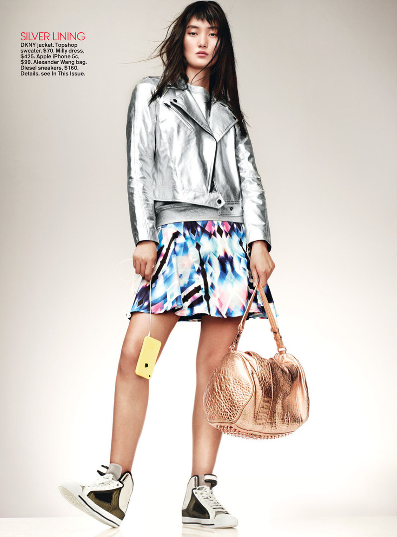 Editorial Lina Zhang Lily Zhi In Teen Vogue December 2013 Harwin Backpack Kenzo January 2014