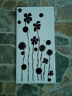 Tile Painting - Flowers