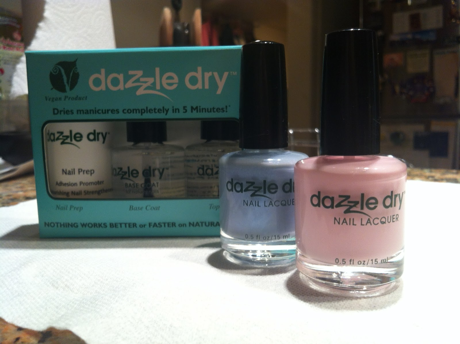 Nailing It Down!: Layered Sweetheart Nails with Dazzle Dry