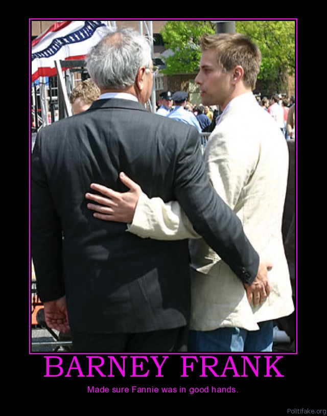Barney Frank hand pat on butt