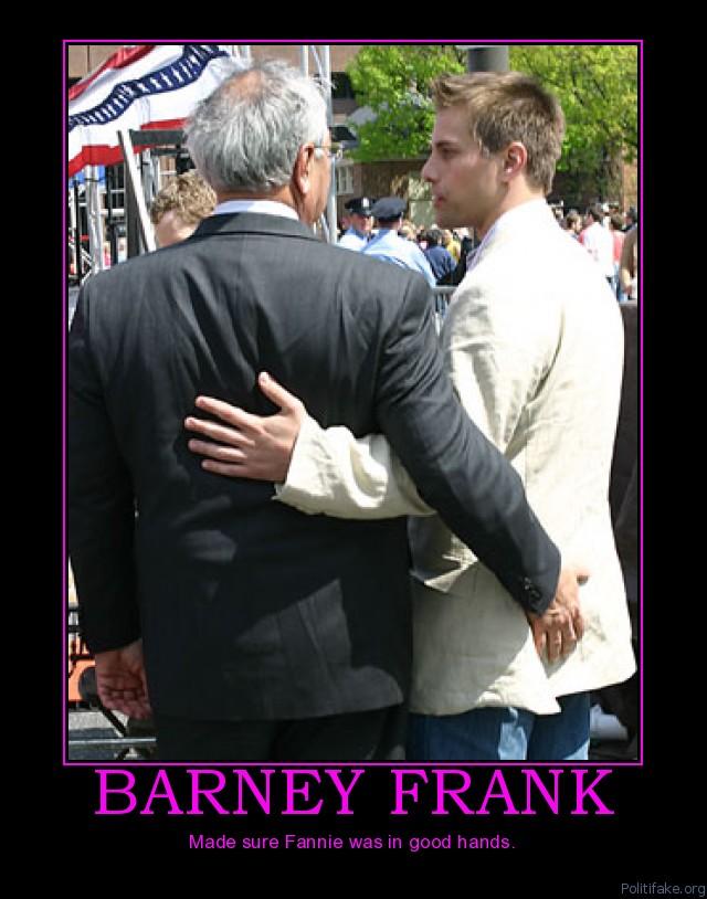 Barney Frank hand pat on butt